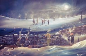 Christmas Day Truce 20'' x 30'' Box Canvas Print